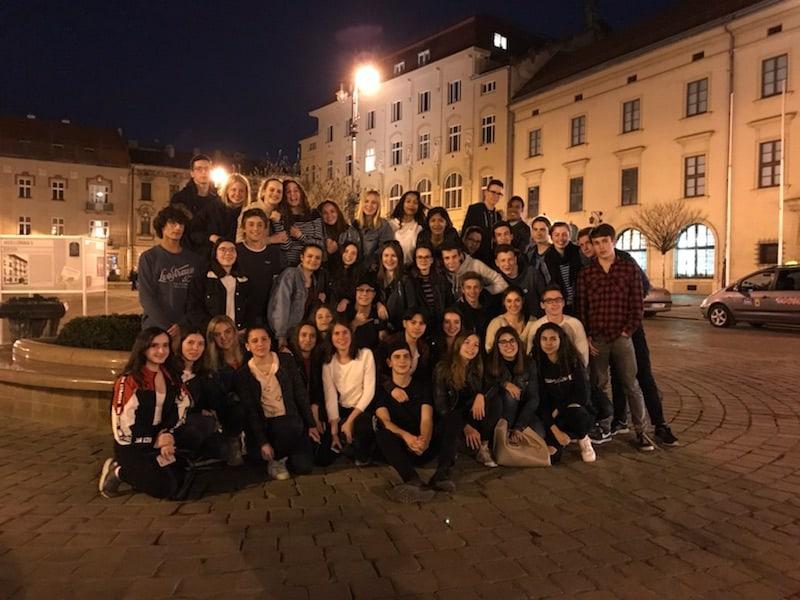 les élèves à Cracovie