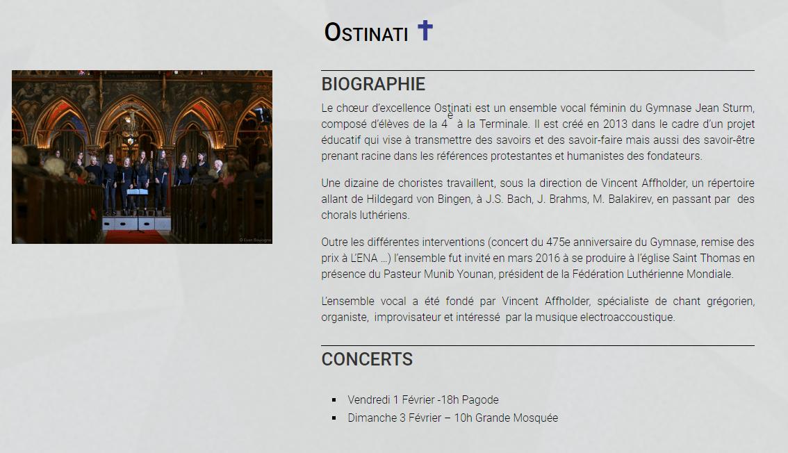 L'ensemble vocal Ostinati au festival des Sacrées Journées