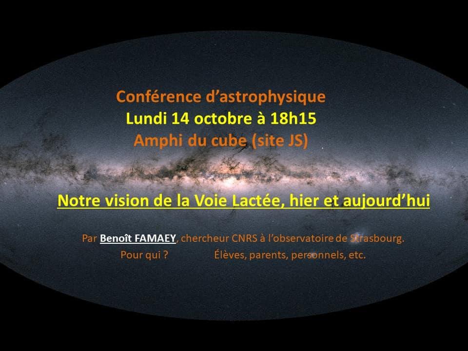 Conférence d'astrophysique