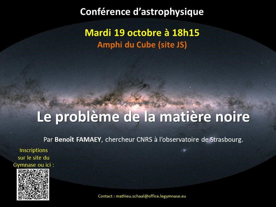 Conférence d'astrophysique – La matière noire